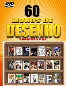 DVD com 60 E-Books com Livros de Desenho