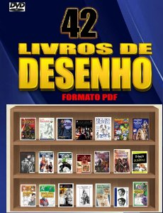 DVD com 42 E-Books com Livros de Desenho
