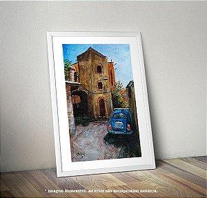Pintura em AQUARELA - Casa Amarela (por Renato Stegun)