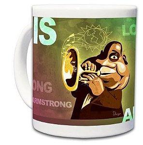 Caneca Caricatura Louis Armstrong