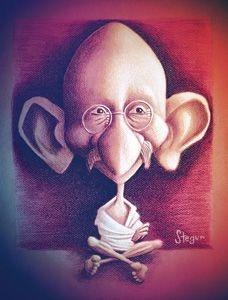 Pôster Caricatura Gandhi
