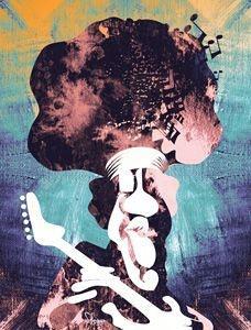 Pôster Caricatura Jimi Hendrix II