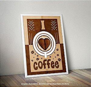 Pôster I LOVE COFFEE (Eu Amo Café)