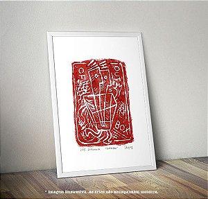 """Gravura """"OutOFboX"""" óleo s/ papel Canson 180g/m2 (arte assinada e numerada c/ tiragem de 15)"""