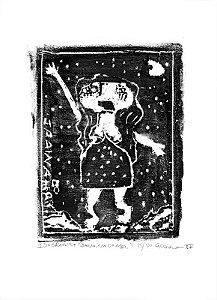 """Gravura """"Janaína do Mar"""" óleo s/ papel Canson (arte assinada e numerada c/ tiragem de 20)"""