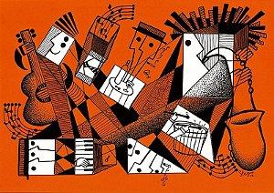 """Desenho série """"OutOFboX #10"""" nanquim s/ papel Canson - arte original com moldura"""