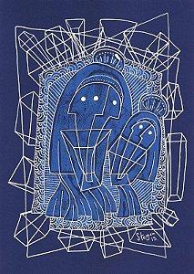 """Desenho série """"OutOFboX #15"""" caneta Posca e tinta óleo s/ papel Canson - arte original com moldura"""