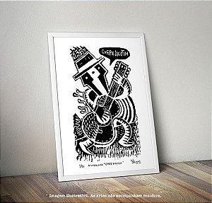 """Xilogravura """"Carpe Noctem"""" (arte original assinada e numerada c/ tiragem de 25)"""