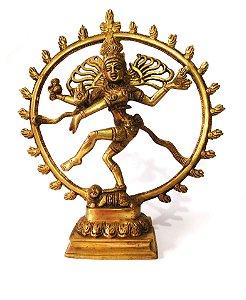 Estátua Shiva Nataraja -  29 cm - em Bronze