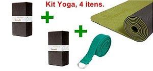 Kit para prática de Yoga - 4 itens