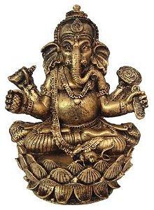 Estátua Lord Ganesha na Flor de Lotus