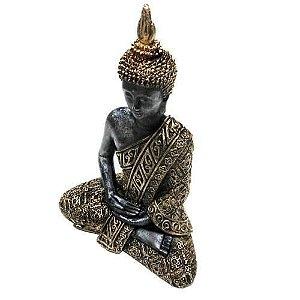 Estátua Buda Hindu Tailandês - 20cm - Prateada ou Dourada