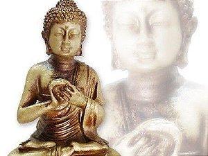 Estátua Buda Hindu Flor de Lotus - 16 cm