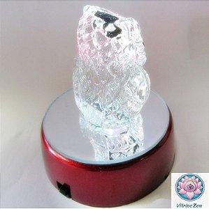 Enfeite Coruja de Cristal  14 cm