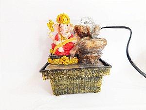 Fonte de Água Decorativa com cristal - Ganesha - 16 cm