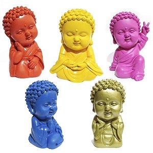 Estatua Buda Colorido - Monge - 9 cm