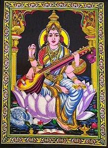 Painel Indiano - Deusa Saraswati