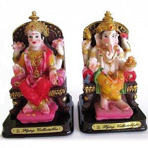 Estatúa Ganesha e Estatúa Laskimi 9cm
