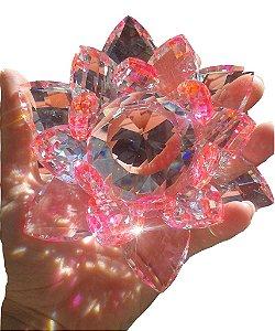 Flor de Lótus de Cristal - várias cores - 11 cm