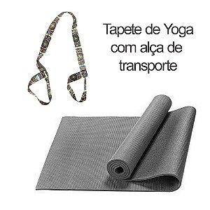 Tapete de Yoga com alça de transporte