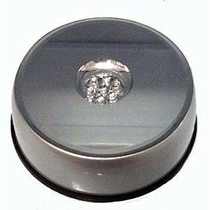 Base Giratória Led Decorativa - 9 cm