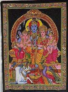 Painel Indiano em Tecido - Deuses Hindus