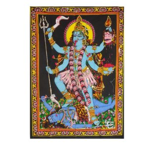 Painel Indiano em Tecido - Deusa Kali