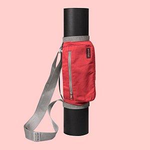 Bolsa para Tapete de Yoga - Vida Simples - cor vermelha