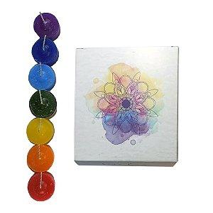 Kit mini velas aromatizadas 7 chakras