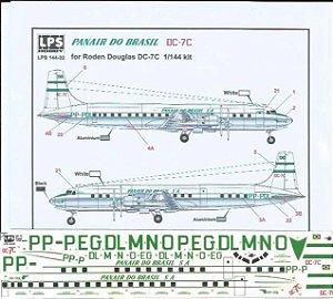 Decal DC-7C Panair do Brasil - escala 1/144 - LPS Hobby