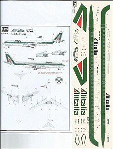 Decal DC-8-40 Alitalia - escala 1/144 - LPS Hobby