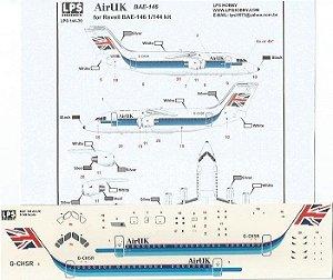 Decal Bae-146 Air UK - escala 1/144 - LPS Hobby
