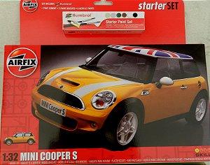 Mini Cooper S - escala 1/32 - Airfix Starter Set - com cola, tintas e pincéis!