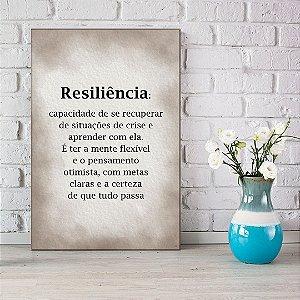 Quadro Decorativo - Resiliência: capacidade de se recuperar de situações de crise
