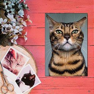Quadro Decorativo - Gato-de-bengala