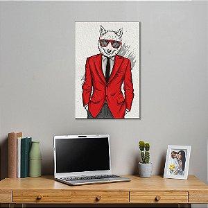 Quadro Decorativo - Husky siberiano estiloso