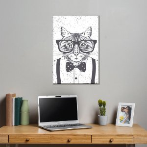 Quadro Decorativo - Gato Geek