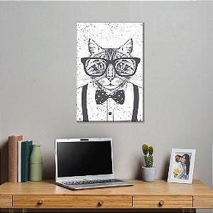 Quadro Decorativo - Gato Geek