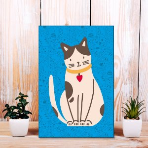 Quadro Decorativo - Gato flat design