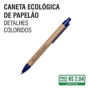Caneta Ecológica de Papelão com Detalhes Coloridos