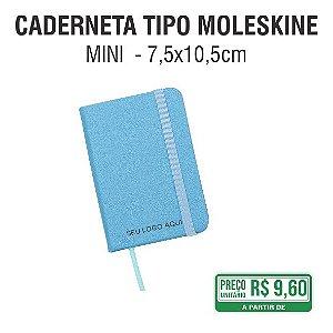 Caderneta Tipo Moleskine - Mini  - 7,5x10,5 cm