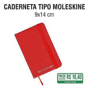 Caderneta Tipo Moleskine - 9x14 cm