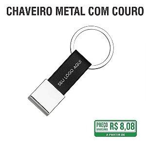 Chaveiro Metal com Couro