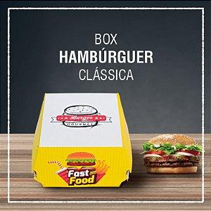 Box Hambúrguer clássica -  GENÉRICA (100 unidades)