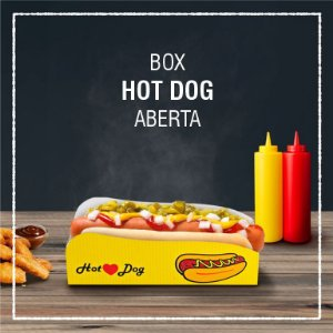 Box Hot Dog aberta -  GENÉRICA (100 unidades)