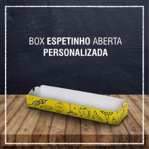 Box Espetinho aberta -  PERSONALIZADA (6000 unidades)