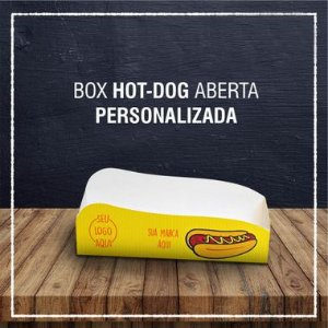 Box Hot Dog aberta -  PERSONALIZADA (2000 unidades)