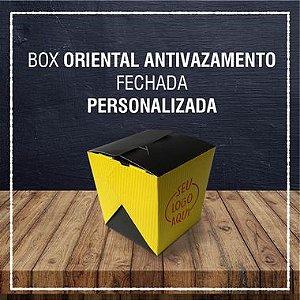 Box Oriental Antivazamento fechada -  PERSONALIZADA (2000 unidades)