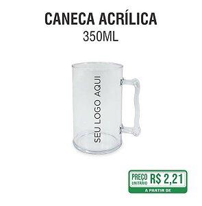 Caneca Acrílica Transparente 350ml