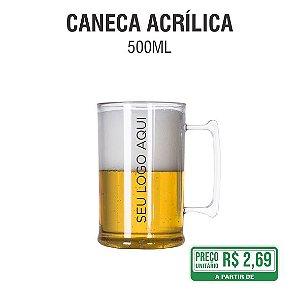 Caneca Acrílica Transparente 500ml